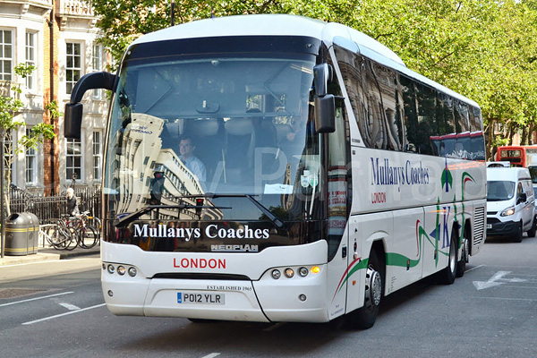 Mullanys Coaches triaxle in London